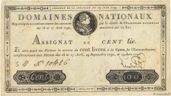 100 Livres FRANCE  1791 Ass.15a TTB+