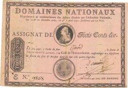 300 Livres sans coupons FRANCE  1790 Ass.02a TB+