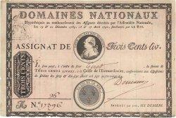 300 Livres variété FRANCE  1790 Ass.02d SUP
