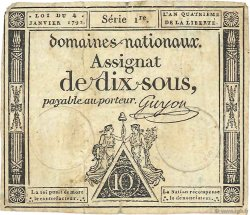10 Sous FRANCE  1792 Ass.23a TB