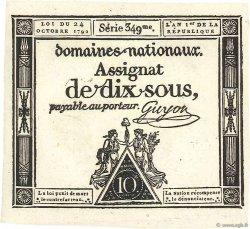 10 Sous FRANCE  1792 Ass.34a NEUF