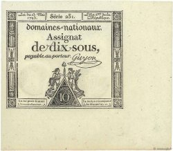 10 Sous FRANCE  1793 Ass.40b NEUF