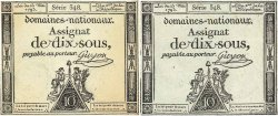 10 Sous variété FRANCE  1793 Ass.40c TTB