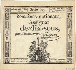 10 Sous variété FRANCE  1793 Ass.40d SPL