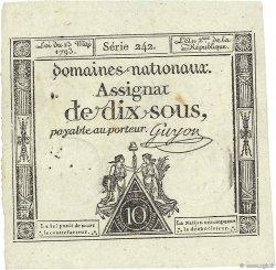 10 Sous vérificateur FRANCE  1793 Ass.40e SUP