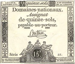 15 Sols FRANCE  1792 Ass.24a NEUF