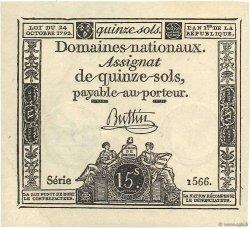 15 Sols FRANCE  1792 Ass.35a SPL
