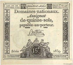 15 Sols FRANCE  1792 Ass.35a NEUF