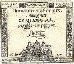 15 Sols FRANCE  1793 Ass.41a TTB