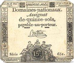 15 Sols variété FRANCE  1793 Ass.41c TTB