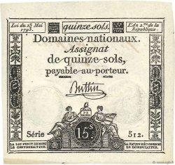 15 Sols FRANCE  1793 Ass.41e SPL