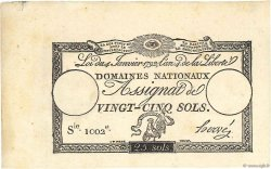 25 Sols FRANCE  1792 Ass.25a NEUF