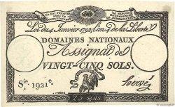 25 Sols vérificateur FRANCE  1792 Ass.25c SPL