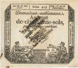 50 Sols FRANCE  1793 Ass.42g NEUF