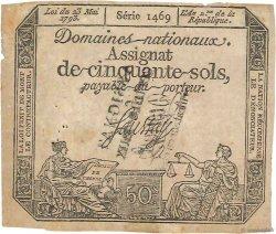 50 Sols FRANCE  1793 Ass.42g TB+