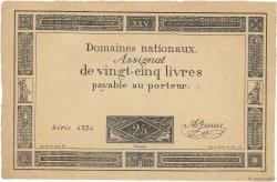 25 Livres FRANCE  1793 Ass.43 variété SUP+