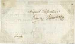 50 Livres vérificateur FRANCE  1792 Ass.39e SUP