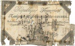 50 Livres FRANCE  1792 Ass.39f var M