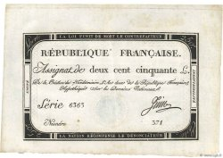 250 Livres FRANCE  1793 Ass.45a SUP+