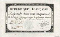 250 Livres vérificateur FRANCE  1793 Ass.45b SPL