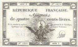 400 Livres FRANCE  1792 Ass.38a SUP