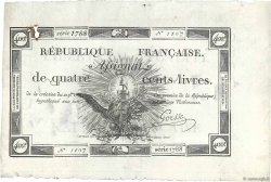 400 Livres FRANCE  1792 Ass.38a AU