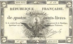 400 Livres Faux FRANCE  1792 Ass.38d TTB