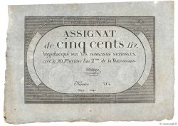 500 Livres  FRANCE  1794 Ass.47a SUP+
