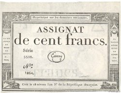 100 Francs FRANCE  1795 Ass.48a XF