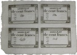 100 Francs Planche FRANCE  1795 Ass.48a-p AU