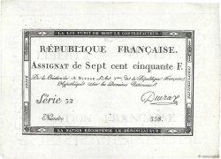 750 Francs FRANCE  1795 Ass.49a SPL