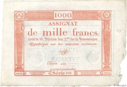 1000 Francs FRANCE  1795 Ass.50a SPL