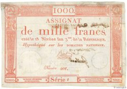 1000 Francs Vérificateur FRANCE  1795 Ass.50c TTB
