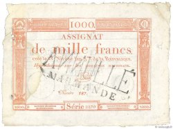1000 Francs FRANCE  1795 Ass.50 var SUP