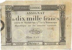 10000 Francs vérificateur FRANCE  1795 Ass.52b TTB+