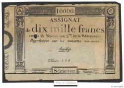 10000 Francs FRANCE  1795 Ass.52var B