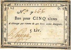 5 Livres FRANCE régionalisme et divers  1793 K.78b SUP+