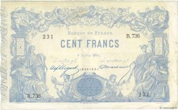 100 Francs type 1862 Indices Noirs FRANCE  1874 F.A39.10 TTB+