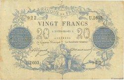 20 Francs type 1871 Dates erronées FRANCE  1873 F.A46bis.03 TB