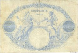 50 Francs type 1884 Indices Noirs FRANCE  1884 F.A47.01 TB+