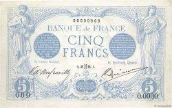 5 Francs BLEU FRANCE  1905 F.02.00 pr.NEUF