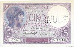 5 Francs VIOLET FRANCE  1905 F.03.00 NEUF