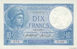 10 Francs MINERVE FRANCE  1916 F.06.01 XF+