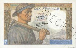10 Francs MINEUR FRANCE  1941 F.08.00 SUP+