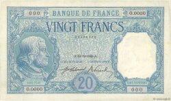 20 Francs BAYARD FRANCE  1925 F.11.00 SUP+