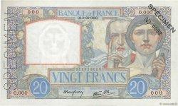 20 Francs SCIENCE ET TRAVAIL FRANCE  1939 F.12.00 pr.NEUF