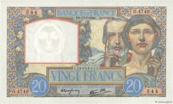 20 Francs SCIENCE ET TRAVAIL FRANCE  1941 F.12.16 SPL+