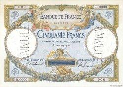 50 Francs LUC OLIVIER MERSON FRANCE  1913 F.15.00 pr.NEUF