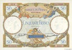 50 Francs LUC OLIVIER MERSON type modifié FRANCE  1932 F.16.03 SUP à SPL