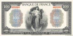 100 Francs type 1918 Essai ABNC FRANCE  1918 F.25E.01 pr.NEUF